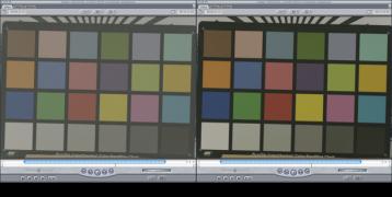 """CineStyle antes y después de aplicar el filtro """"DSLR Log2Video"""""""