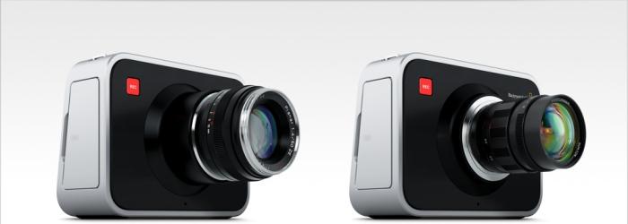 Las BMD Cinema Cameras con montura EF y micro 4/3 respectivamente.