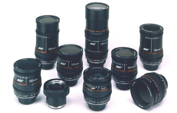 Gama de ópticas Hasselblad/ZEISS/ARRI diseñada originalmente para la ARRIFLEX 765