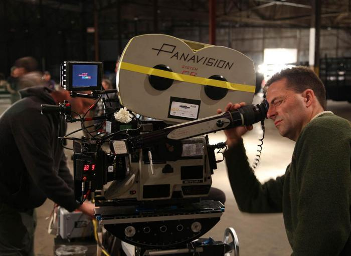 """Panavision System 65 durante el rodaje de """"The Master"""" (Paul Thomas Anderson, 2012)"""