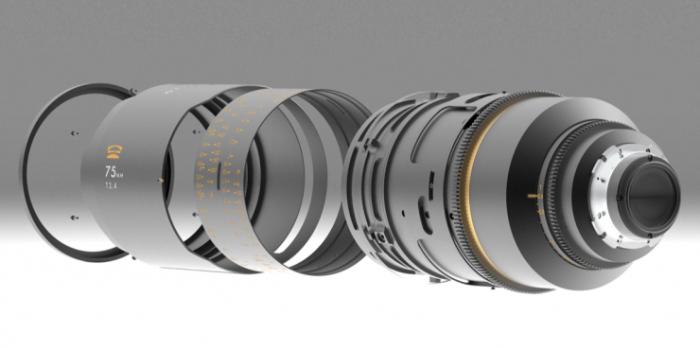 Diseño mecánico de la Glaswerk One+ 50 mm T2,4